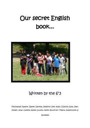 Our secret English book 2011