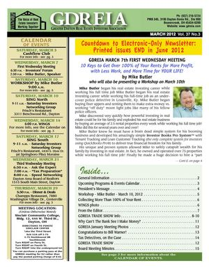 GDREIA Newsletter March 2012