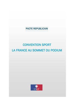 Convention sport : La France au sommet du podium