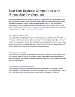 Beat Your Business Competition With iPhone App Development