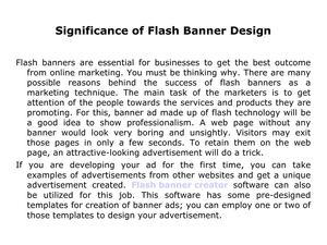 Significance of Flash Banner Design
