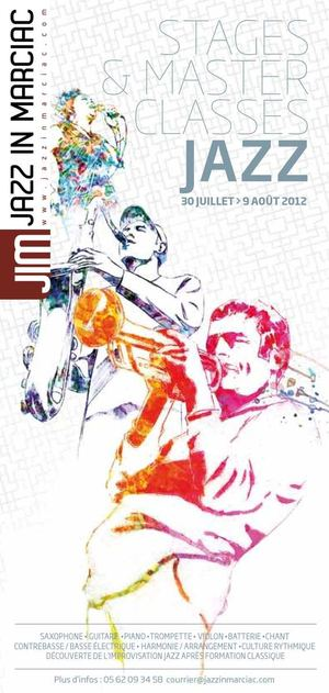 STAGES & MASTER CLASSES JAZZ : 30 JUILLET > 9 AOUT 2012
