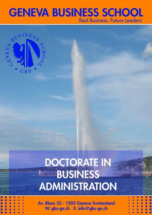 GBS Doctorate in Business Administration