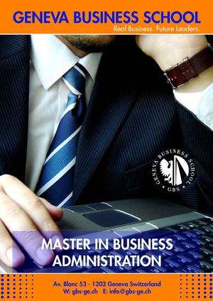 GBS Master of Business Administration