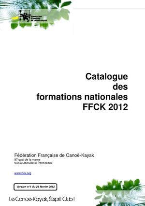 Catalogue des Formations FFCK 2012