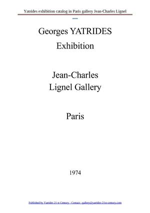 Georges Yatrides Paris exhibition in 1974