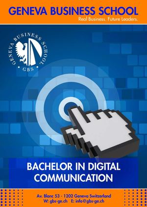 GBS Bachelor in Digital Communication