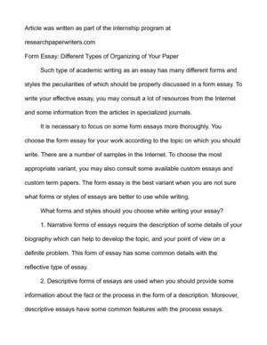 Essay On My School In English Form Essay Different Types Of Organizing Of Your Paper Thesis Statements Examples For Argumentative Essays also Healthy Food Essay Calamo  Form Essay Different Types Of Organizing Of Your Paper Topics For Essays In English