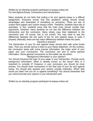 Calamo  For And Against Essay Conclusions And Introductions For And Against Essay Conclusions And Introductions Essay With Thesis Statement also How To Write A Research Essay Thesis  Online Assignment Writing Help