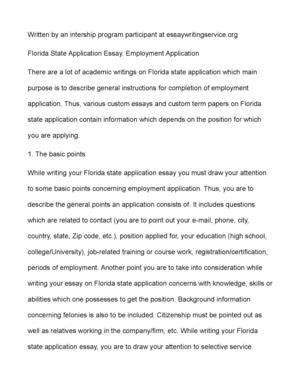 calaméo florida state application essay employment application