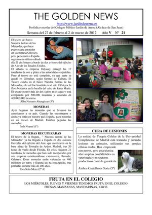 THE GOLDEN NEWS. Nº 21