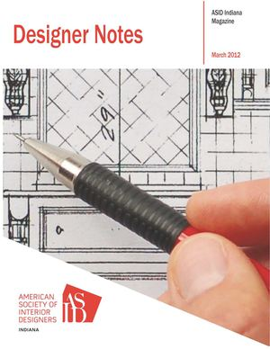 ASID Indiana March 2012 Designer Notes Newsletter