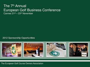 2012 EGCOA Conference Sponsorship Opportunities