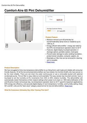 heat dehumidifier comforter inc bhd controller e ca aire comfort dp home tools amazon