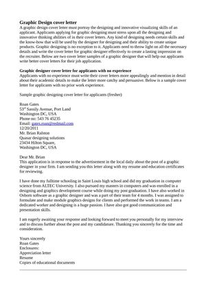 graphic design cover letter 2 calam 233 o graphic design cover letter 1265