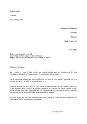 Calaméo   lettre de refus modification contrat de travail