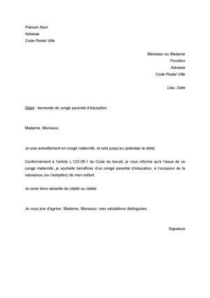 congé parental lettre Calaméo   lettre de demande de congé parental d'éducation congé parental lettre