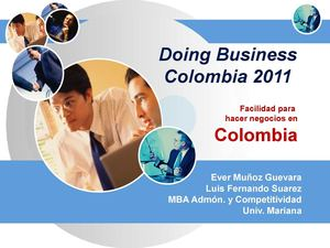 DOING BUSINESS COLOMBIA 2011