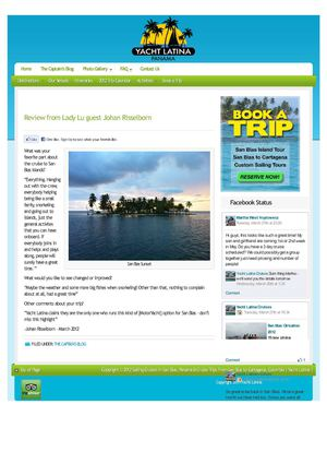 Cruise to San Blas islands Review from Lady Lu guest Johan Risselborn
