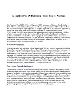 Elegant Secrets Of Panasonic - Some Helpful Answers