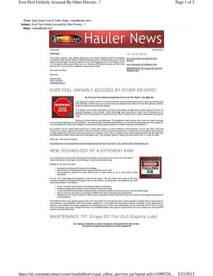 Carhauler news and issues