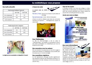 Informations Médiathèque intercommunale Capavenir AVRIL 2012