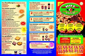 Menu Hot Pizza 77 2012