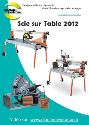 Catalogue Scie sur table 2012