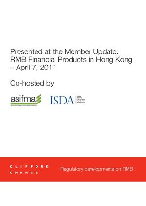 Clifford Chance | RMB Financial Products in Hong Kong - Regulatory developments on RMB