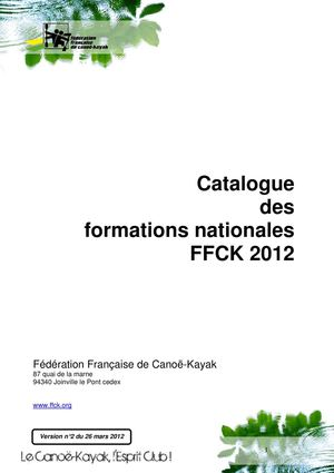 Catalogue des Formations 2012 de la FFCK