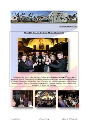 All Manor Things 30 (30th March 2012)
