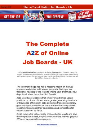 a to z of niche jobs boards