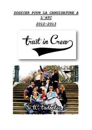 Candidature Trust in Crew BDE 2012-2013