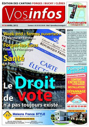 Journal Vosinfos n°38 - Edition Forges / Buchy / Clères - Avril 2012