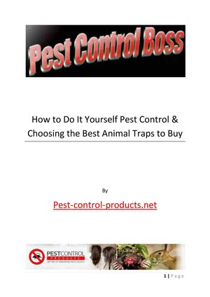 Do It Yourself Pest Control Guide
