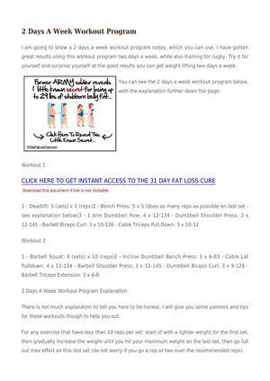 Calaméo - 2 Days A Week Workout Program