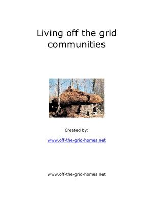 4Living off the grid communities