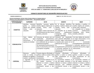 Calaméo - descriptores desempeño primaria jt 2012 I