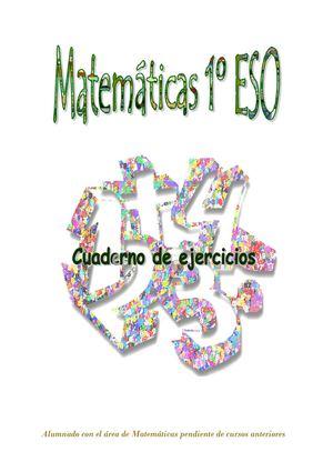 Calaméo - Cuaderno de ejercicios. Matemáticas 1º ESO (Pendientes ...