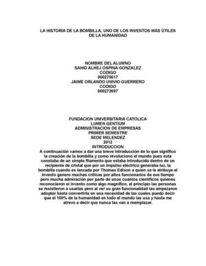 Calameo Historia De La Bombilla