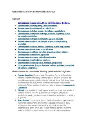 Calaméo - GENERADORES EN LINEA SOBRE MATERIAL EDUCATIVO