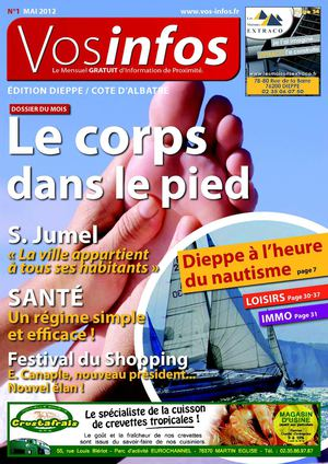 Journal Vosinfos n°1 - Edition Dieppe / Dieppe Agglo - mai 2012