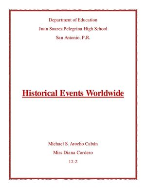 Historical Events Worldwide on March 24, at my Birth?