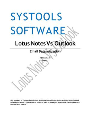 Lotus Notes to MS Outlook