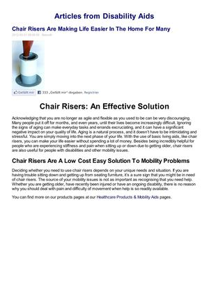 When Best To Use Chair Risers
