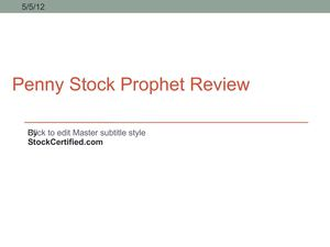 Penny Stock Prophet Review