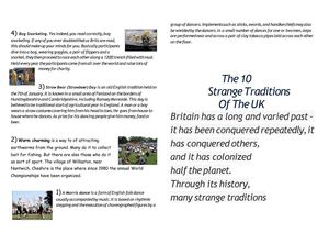 "Pamphlet ""The customs and traditions of United Kingdom of Great Britain and Northern Ireland"""