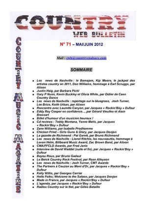 Country Web Bulletin Mai/Juin 2012