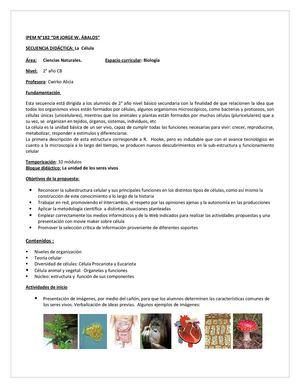 Calaméo - SECUENCIA DIDÁCTICA: La Célula
