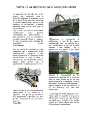 Aportes de la ingenieria civil